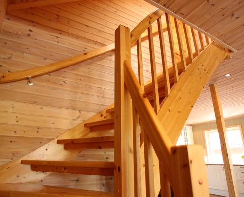 Treppe zu Schlafzimmern