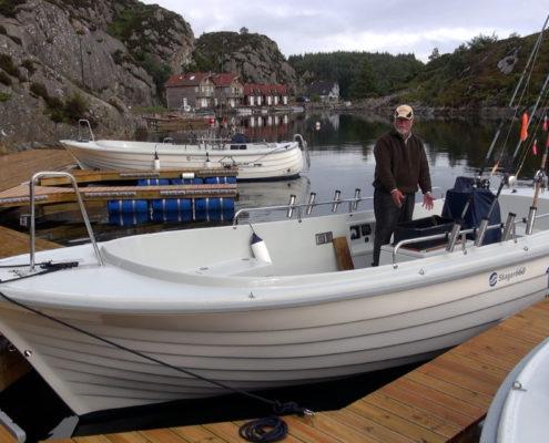 Skager Boot am Steg