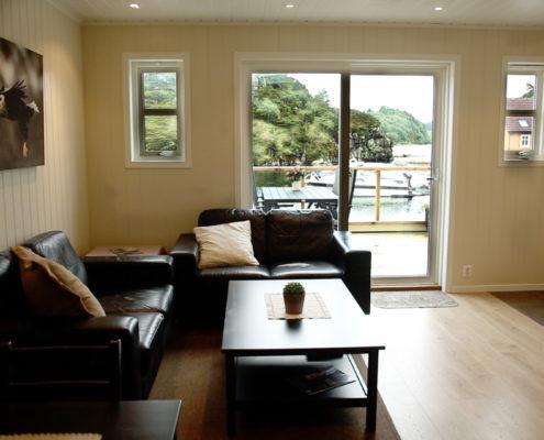 Wohnzimmer Blick auf Fjord