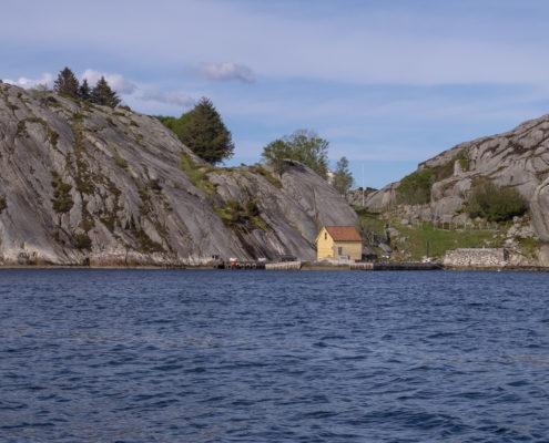 Schönes Motiv im Fjord
