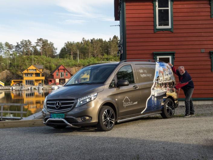 Eivind`s neues Servicemobil mit Foto von Ralf
