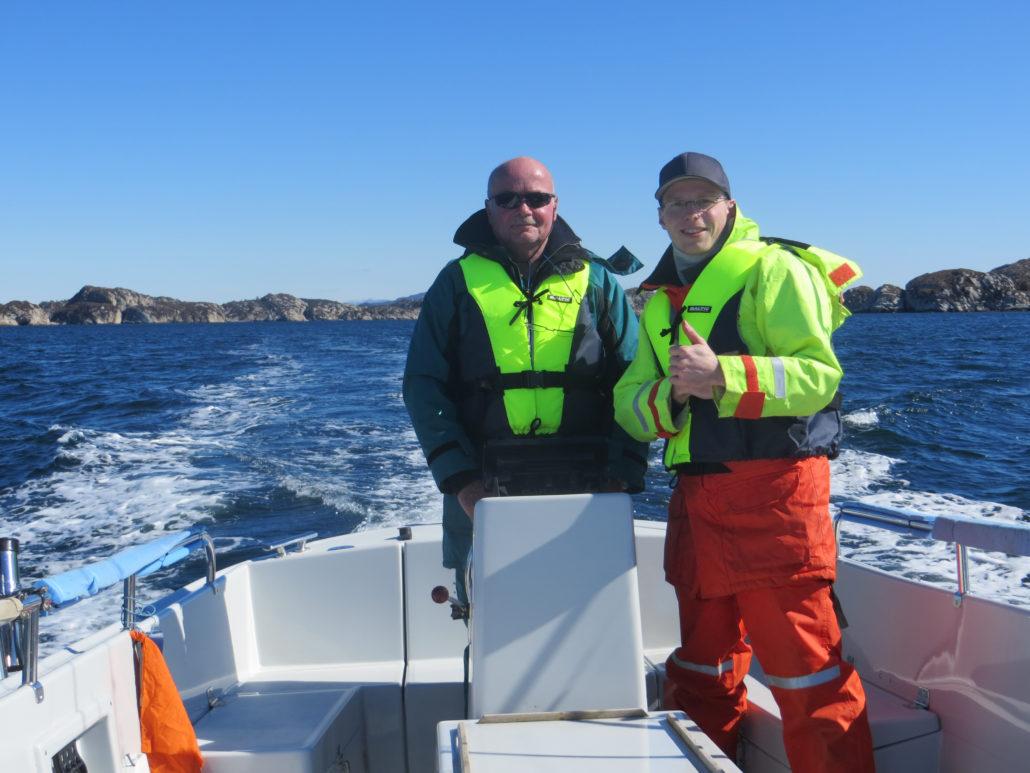 Matthias und Achim auf dem Weg zu den Fischgründen.