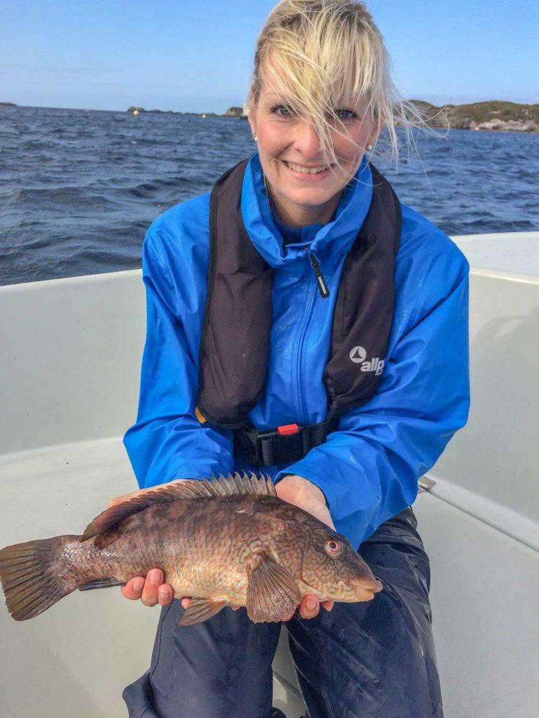 Kristin mit Lippfisch