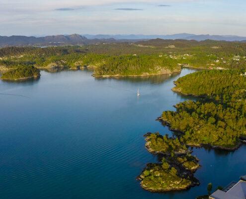 Aussicht auf den Innvaerfjord.